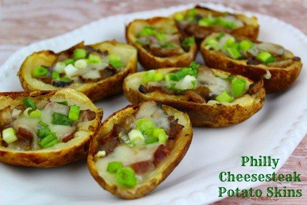 Philly Cheesesteak Potato Skins