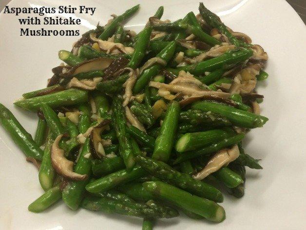 Asparagus Stir Fry with Shitake Mushrooms