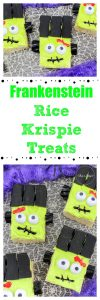 Frankenstein Rice Krispie Treats
