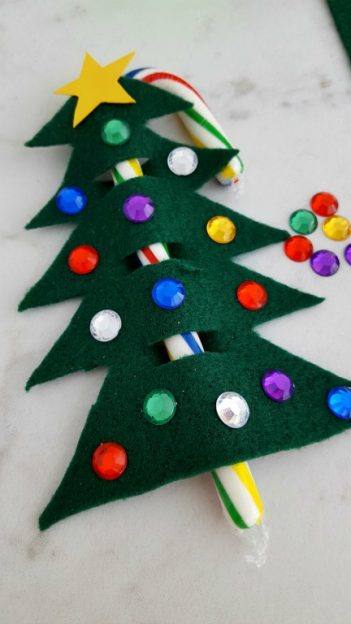 Candy Cane Christmas Tree Ornament