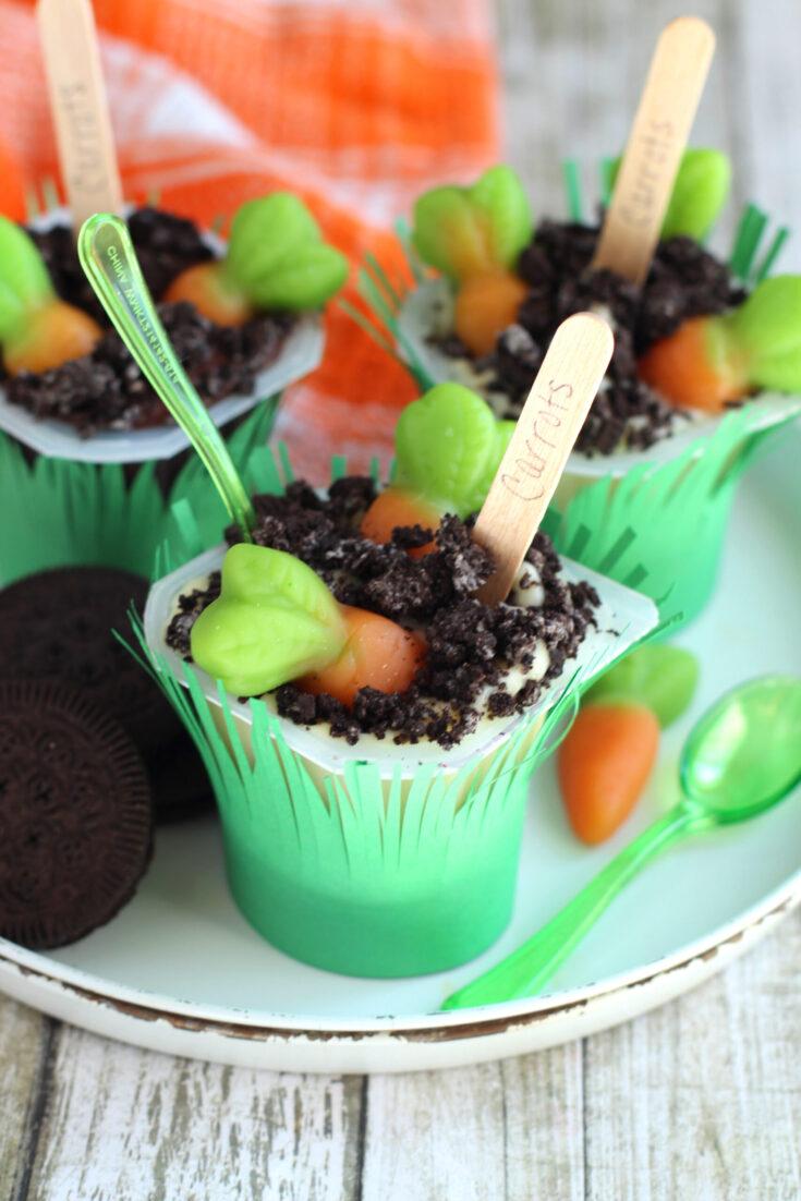 Carrot Garden Pudding PopsCarrot Garden Pudding Pops