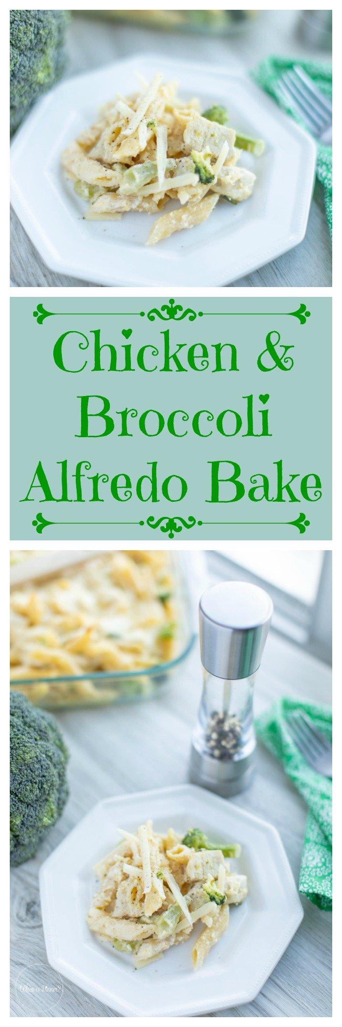 Chicken and Broccoli Alfredo Bake