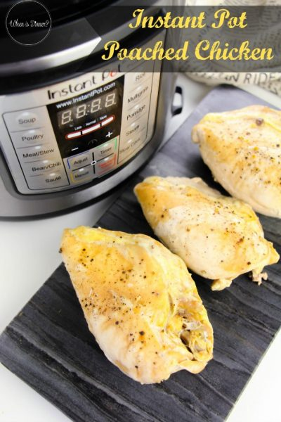 Instant Pot Poached Chicken (Zero Weight Watchers Points)