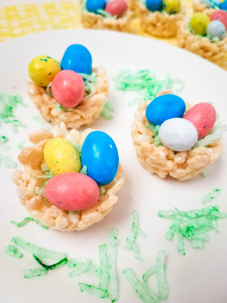 Easter Nest Rice Krispies Treats