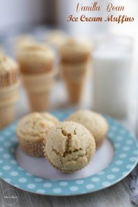 Vanilla Bean Ice Cream Muffins