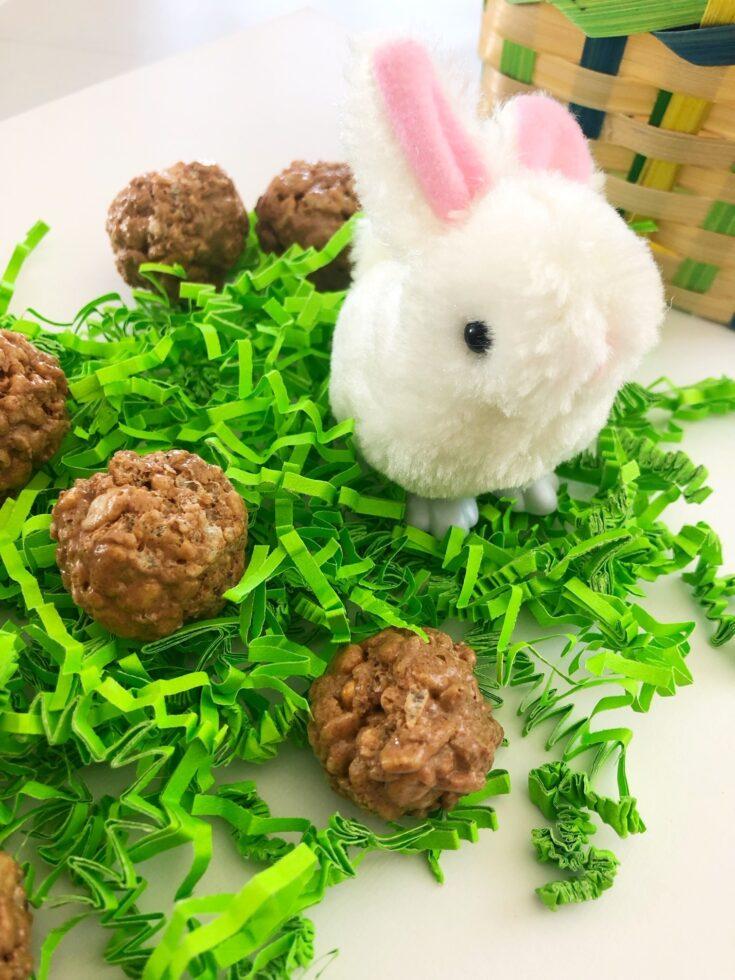 Easter Bunny Poop Rice Krispie Treats
