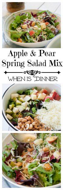 Apple & Pear Spring Salad Mix