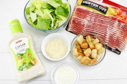 Caesar Salad Bacon Cups