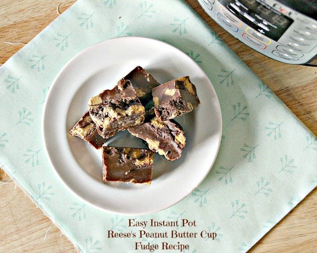 Easy Instant Pot Reese's Peanut Butter Cup Fudge Recipe