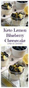 Keto Lemon Blueberry Cheesecake