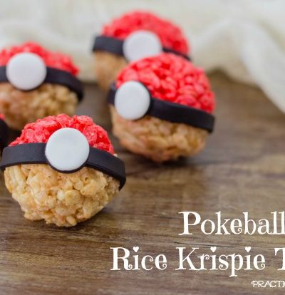 Pokeball Rice Krispy Treats