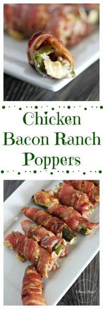 Chicken Bacon Ranch Poppers