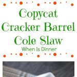 Copycat Cracker Barrel Cole Slaw