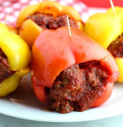 Keto Bell Pepper Meatball Subs
