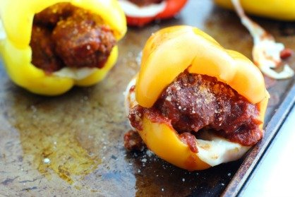 Keto Bell Pepper Meatball Subs