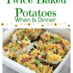 Loaded Ranch Twice Baked Potatoes