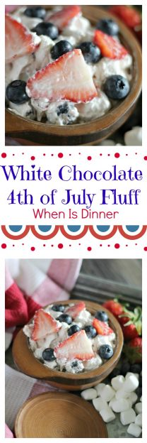 White Chocolate 4th of July Fluff