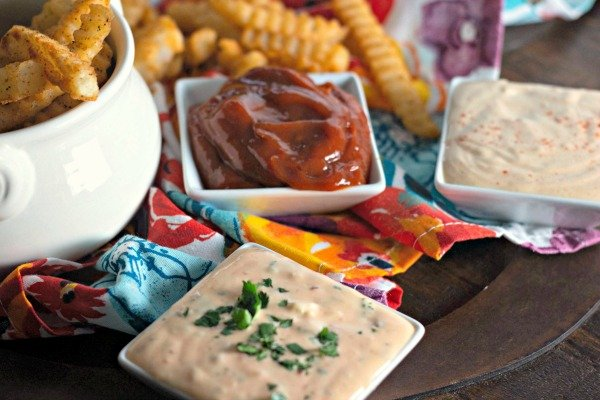 Homemade French Fries & Three Homemade Dipping Sauces
