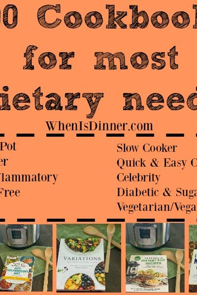 100 Cookbooks for most dietary needs + 5 Cookbook #Giveaway {Ends 10/31}