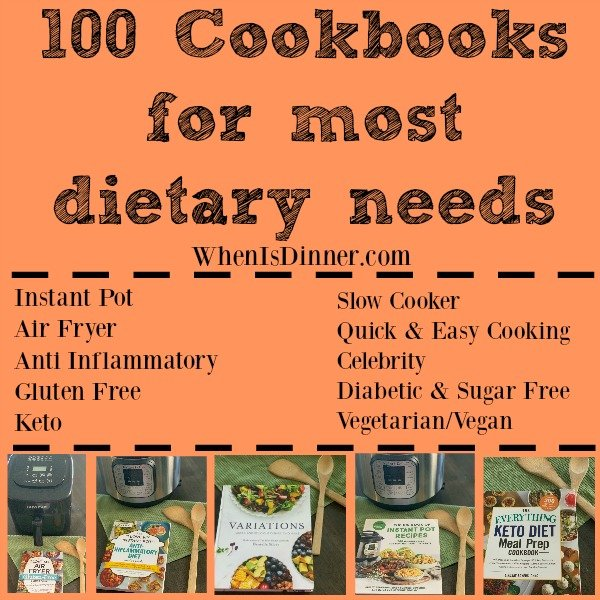 100 Cookbooks for most dietary needs