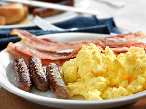 Scrambled Eggs Bacon & Sausage