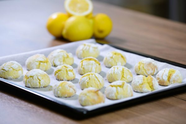 Cake Mix Lemon Crinkle Cookies