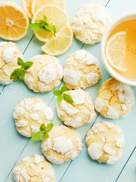 Cake Mix Lemon Crinkle Cookies