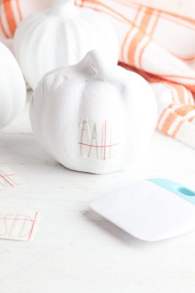 Easy Painted Pumpkin Idea Cricut Instructions