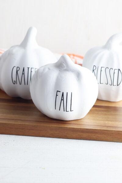 Easy Painted Pumpkin Idea