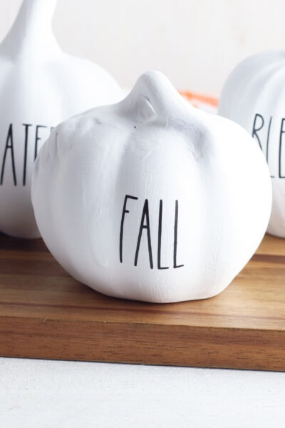 Easy Painted Pumpkin Idea (Rae Dunn Inspired) + FREE Downloadable SVG