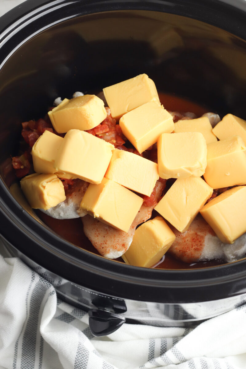 Slow Cooker Queso Chicken