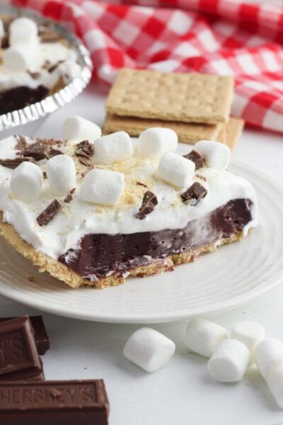 Easy No Bake S'mores Pie