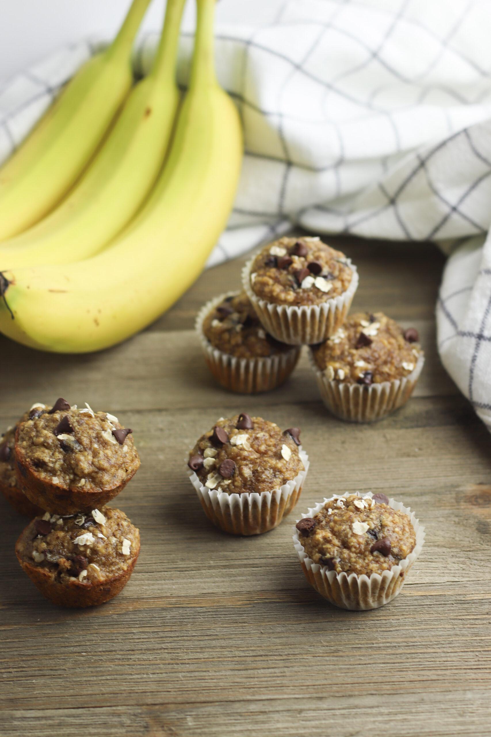 Peanut Butter Banana Oat Muffins
