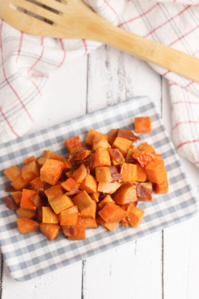 Oven Roasted Sweet Potatoes with Bacon