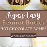 Peanut Butter Hot Chocolate Bombs
