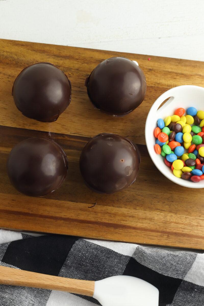 M&M Hot Chocolate Bombs